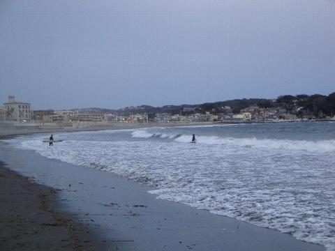 1月の海。